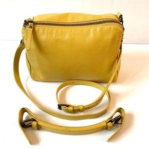 ☀️KELSI DAGGER Yellow Leather Shoulder Bag☀️